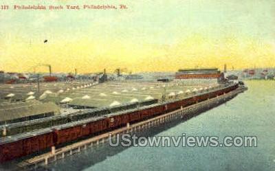 Philadelphia Stock Yard - Pennsylvania PA Postcard