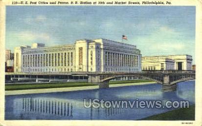 Penn. R.R. Station - Philadelphia, Pennsylvania PA Postcard