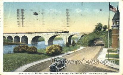 P.R.R. Bridge, Schuylkill River - Philadelphia, Pennsylvania PA Postcard