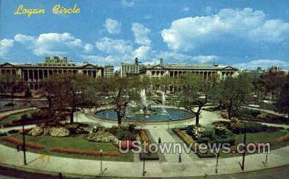 Logan Circle - Philadelphia, Pennsylvania PA Postcard