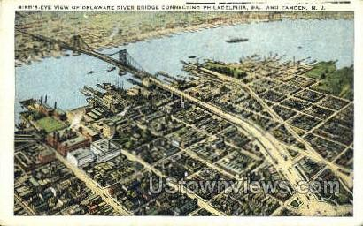 Delaware River Bridge - Philadelphia, Pennsylvania PA Postcard