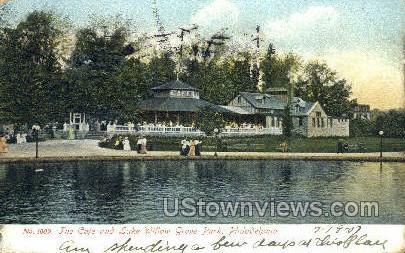 Lake Willow Grove Park - Philadelphia, Pennsylvania PA Postcard