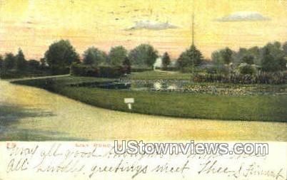 Lily Pond, Willow Grove Park - Philadelphia, Pennsylvania PA Postcard