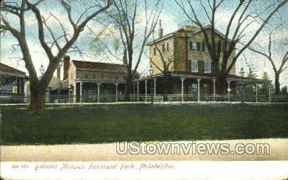 Belmont Mansion, Fairmount Park - Philadelphia, Pennsylvania PA Postcard