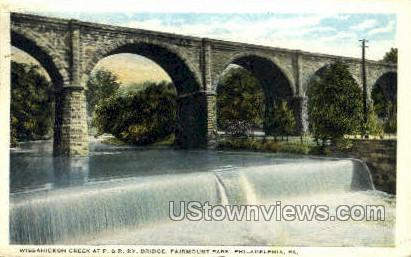 Wissahickon Falls, Stone Bridge - Philadelphia, Pennsylvania PA Postcard