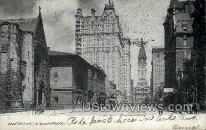 Broad Street - Philadelphia, Pennsylvania PA Postcard