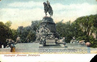 Washington Monument - Philadelphia, Pennsylvania PA Postcard