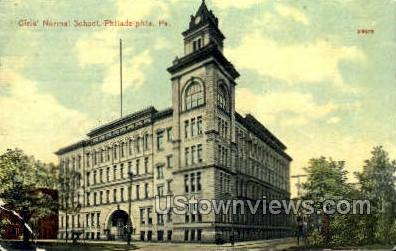 Girls' Normal School - Philadelphia, Pennsylvania PA Postcard