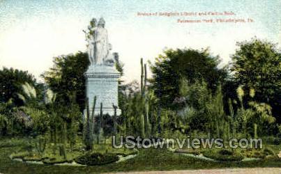 Statue of Religious Liberty - Philadelphia, Pennsylvania PA Postcard