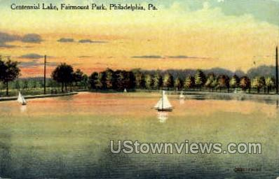 Centennial Lake, Fairmount Park - Philadelphia, Pennsylvania PA Postcard