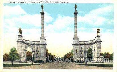 Smith Memorial Monument - Philadelphia, Pennsylvania PA Postcard
