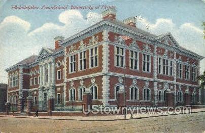 University of Penn, Law School - Philadelphia, Pennsylvania PA Postcard