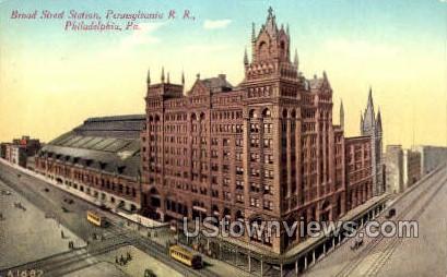 Borad Street Station - Philadelphia, Pennsylvania PA Postcard
