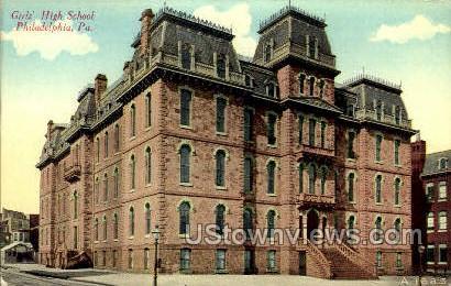 Girls' High School - Philadelphia, Pennsylvania PA Postcard