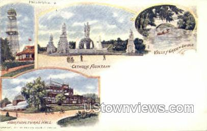 Catholic Fountain - Philadelphia, Pennsylvania PA Postcard