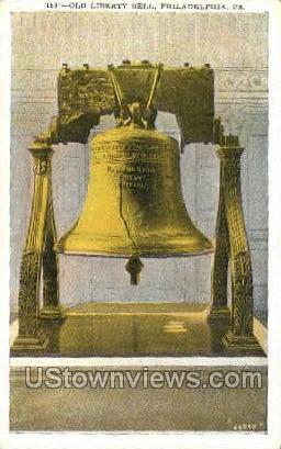 Old Liberty Bell - Philadelphia, Pennsylvania PA Postcard
