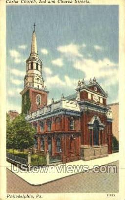 Christ Church - Philadelphia, Pennsylvania PA Postcard
