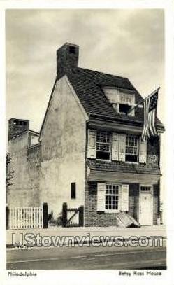 Betsy Ross Home - Philadelphia, Pennsylvania PA Postcard