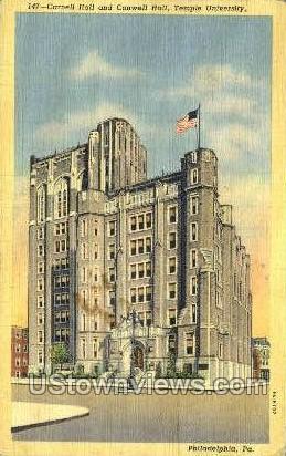 Carnell Hall - Philadelphia, Pennsylvania PA Postcard