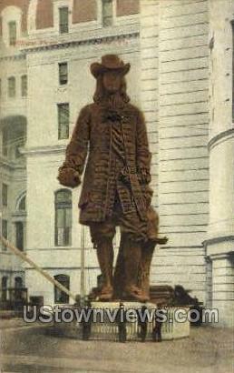 William Penn Statue - Philadelphia, Pennsylvania PA Postcard