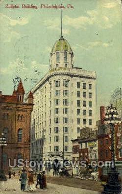 Bulletin Bldg - Philadelphia, Pennsylvania PA Postcard