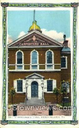 Carpenters' Hall - Philadelphia, Pennsylvania PA Postcard
