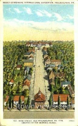 High Street - Philadelphia, Pennsylvania PA Postcard