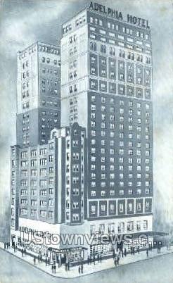 Adelphia Hotel - Philadelphia, Pennsylvania PA Postcard