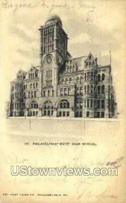 Boys' High School - Philadelphia, Pennsylvania PA Postcard