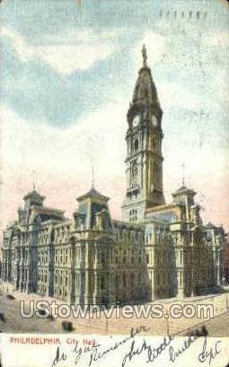 City Hall, Philadelphia - Pennsylvania PA Postcard