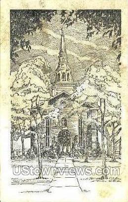Augustus Lutheran Church - Philadelphia, Pennsylvania PA Postcard