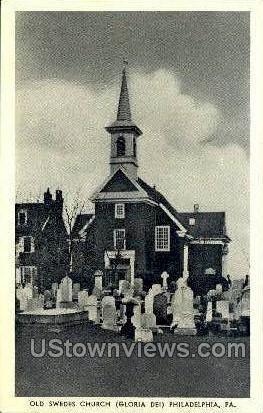 Old Swedes Church - Philadelphia, Pennsylvania PA Postcard