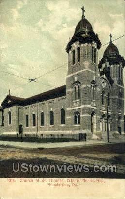 Church of St. Thomas - Philadelphia, Pennsylvania PA Postcard