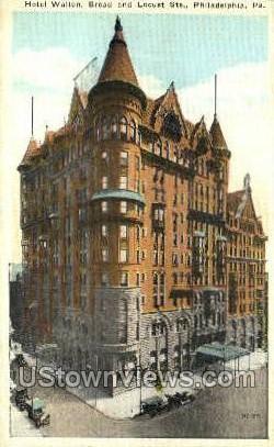 Hotel Walton - Philadelphia, Pennsylvania PA Postcard