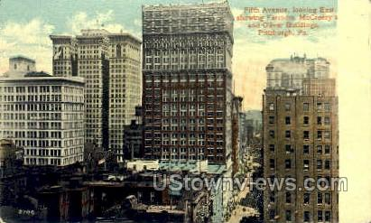 McCreery's & Oliver Bldg - Pittsburgh, Pennsylvania PA Postcard