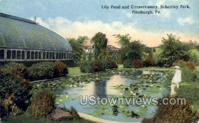 Lily Pond & Conservatory - Pittsburgh, Pennsylvania PA Postcard