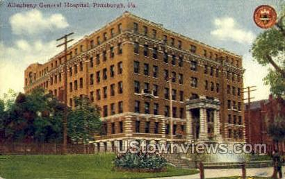 Allegheny General Hospital - Pittsburgh, Pennsylvania PA Postcard