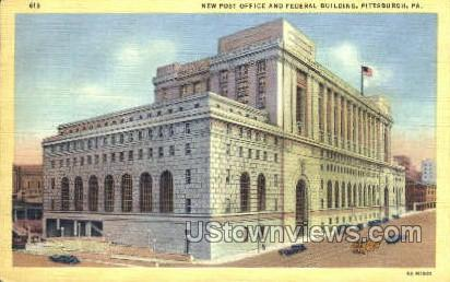 New Post Office & Federal Bldg - Pittsburgh, Pennsylvania PA Postcard