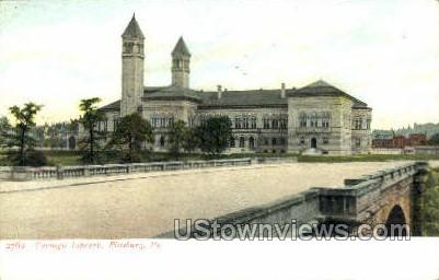 Carnegie Library - Pittsburgh, Pennsylvania PA Postcard