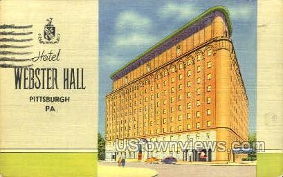 Hotel Webster Hall - Pittsburgh, Pennsylvania PA Postcard