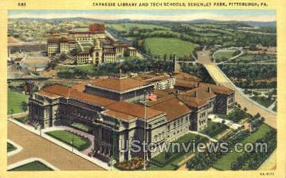 Carnegie Library & Tech Schools - Pittsburgh, Pennsylvania PA Postcard