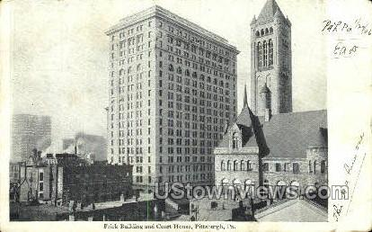Frick Bldg & Court House - Pittsburgh, Pennsylvania PA Postcard