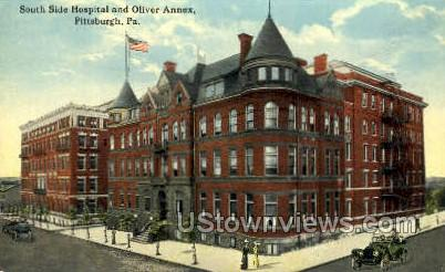 South Side Hospital & Oliver Annex - Pittsburgh, Pennsylvania PA Postcard