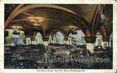 Norse Room, Fort Pitt Hotel - Pittsburgh, Pennsylvania PA Postcard