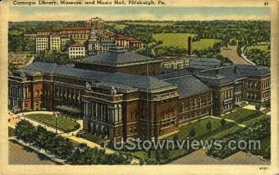 Carneige Library, Museum & Music - Pittsburgh, Pennsylvania PA Postcard