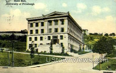 State Hall, University of Pittsburgh - Pennsylvania PA Postcard