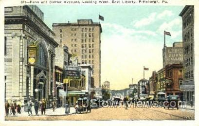 Penn & Center Ave. East Liberty - Pittsburgh, Pennsylvania PA Postcard