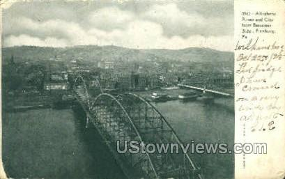 Allegheny River - Pittsburgh, Pennsylvania PA Postcard