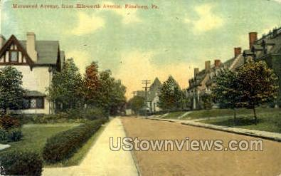 Morewood Ave., Ellsworth Ave. - Pittsburgh, Pennsylvania PA Postcard