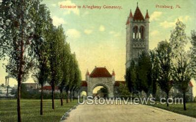 Allegheny Cemetery - Pittsburgh, Pennsylvania PA Postcard
